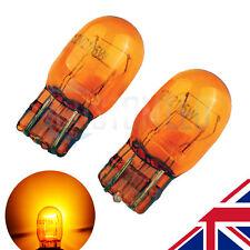 T20 7443 580 W21/5W ámbar MARCADOR DRL lado Halógeno Headlight Bulbs 6000k (par)