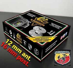 KIT 4 DISTANZIALI RUOTA 12 + 16 mm CON BULLONI - FIAT 500 / 595 FIAT 500 ABARTH