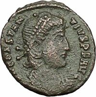CONSTANTIUS II Constantine the Great son Ancient Roman Coin Battle Horse i50778