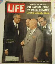 Life August 9, 1963 Harriman & Khrushchev cover
