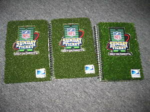 NFL Sunday Ticket Limited Edition Promotional Note Book Lot of 3 BRAND NEW