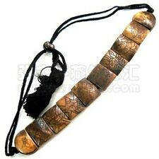 Adjustable Tibetan Carved 8 Auspicious Symbol Yak Bone Beaded Amulet Bracelet