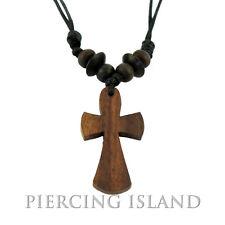 Kreuz  Holzkreuz Halskette Anhänger Kette Holz Design N016