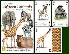 Animales Africanos Set de 52 Carta de Juego + Bromistas ( Hpc )