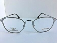 New Tom Ford Titanium TF 4953 600 Silver 49mm Round Eyeglasses Frame Japan