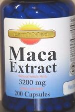 Maca Root Extract High Potency 3200 mg 200 Caps Enhance Sexual Health Made USA