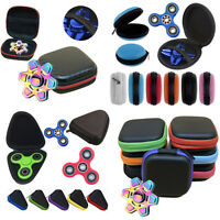 one For Fidget Hand Spinner Triangle Finger Toy Focus ADHD Autism Bag Box Case