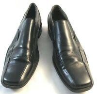 Steve Madden Mens Size 9.5 Black Leather Upper Slip On Dress Bicycle Toe Shoes