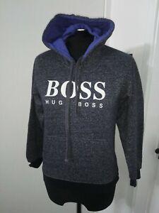 Boys HUGO BOSS hoodie size XL top hooded jacket blue grey pullover jumper teens