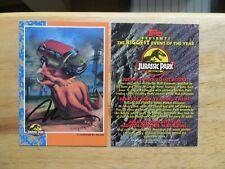 1992 TOPPS JURASSIC PARK DINOSAUR PROMO CARD SIGNED NELSON, WITH POA