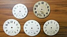 5 Vtg Pocket or Watch Faces Elgin Hamilton Standard Mixed Parts For Repair As Is