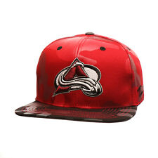 Colorado Avalanche Militia NHL ( A Logo) DK RED / BLK TWL Adjustable Snapback