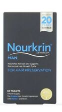 NOURKRIN Man Hair Growth Programme 60 Tablets 1 Month Supply - Royal Mail 2nd