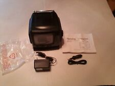 "5"" Portable Black & White Television with Am/Fm Radio Model Pk-4184"