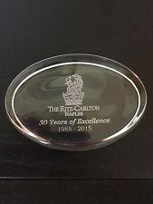 Very Rare Ritz Carlton Hotel Naples 30th Anniversary Paperweight-Brand New!!!