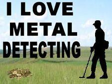 NEW- I LOVE METAL DETECTING KEYRING - DETECTOR KEYRING, GREAT GIFT. SIZE 5 X 3.5