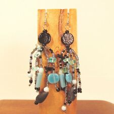 Wholesale Lot 6 PCS Handmade Beaded Boho Chandelier Dangle Earrings 6 COLORS
