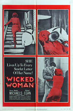 WICKED WOMAN Movie POSTER 11x17 Beverly Michaels Richard Egan Percy Helton