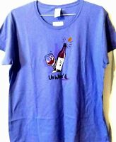 Womens un wined just chillin t-shirt size Large  lilac purple wine