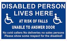 Disabili Persona At Rischio di Falls Impossibile a Anser Porta - Finestra Decal