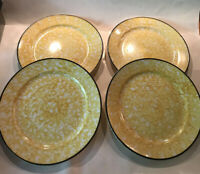 4- Vintage Stangl Town and Country Yellow   Salad Plates