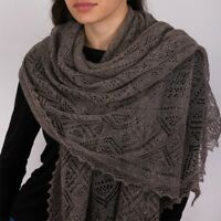 Orenburg Goat Down Scarf Shawl Pashmina Made in Russia Gray Authentic