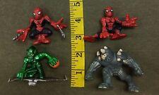 Super Hero Squad Mixed Toy Lot  Web Spiderman Green Goblin Rhino