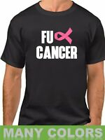FU CANCER #2 T Shirt Pink Ribbon Breast Cancer Awareness T-Shirt Support Tee
