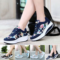 Womens Casual Breathe Shape-Ups Slip On Lace Up Walking Fitness Shoes Sneakers