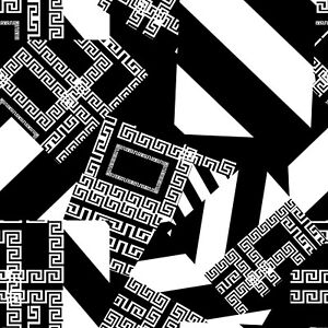 Black and white Geometric Tile Sticker wall for 6x6 Inches 4x4 and 3x3 tile n104