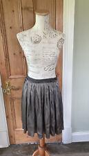 LANVIN Ladies Taupe Pleated Skirt Knee Length Full Skirt Sz 40 SS07 Ete 2007
