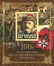 WWI Great World War I Marshal Foch (France) Tchad Chad s/s #tchad2014-181 IMPERF