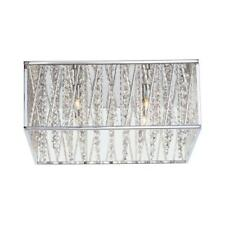 NEW!!  HOME DECORATORS Saynsberry 16 in. 4-Light Chrome Square Flush Mount