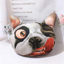3D SharPei Dog Face Cushion Headrest Pillow Activated Carbon Seat Covers Kit