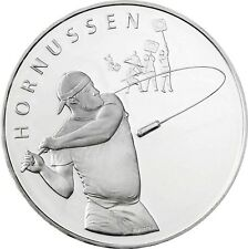 Schweiz 20 Franken 2015 Hornussen Nationalsport Stempelglanz Silbermünze