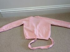 girls pink ballet leotard, voile skirt and cardigan set age 8 to 9 years.