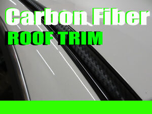 FOR INFIN2001-2018 2pcs 3D BLACK CARBON FIBER ROOF TOP TRIM MOLDING DIY
