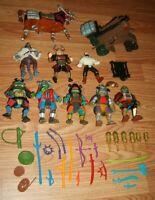 Vintage 1993 TMNT Movie III Lot Teenage Mutant Ninja Turtle 9 Figure Lot Horse