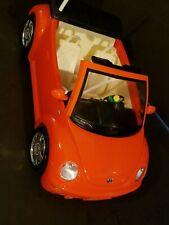 Barbie Volkswagen Beetle Convertible Vehicle Radio Shack No Remote Mattel