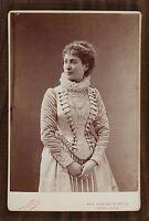 Blanche Barretta, Actrice Théâtre Comédie-Française Photo Cabinet card Nadar