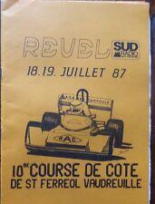 REGLEMENT PM 10ème COURSE de COTE REVEL SAINT FERREOL VAUDREUILLE 1987 PYRENEES