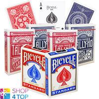 6 DECKS 2 BICYCLE STANDARD 2 TALLY HO CIRCLE 2 FAN 2 SPIELKARTEN BLAU ROT NEU
