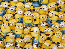 DESPICABLE ME YELLOW PACKED MINIONS QUILTING TREASURE 100% COTTON FABRIC YARDAGE