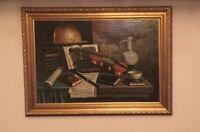 Framed & Signed Original Landscape Painting on 90x 50 canvas