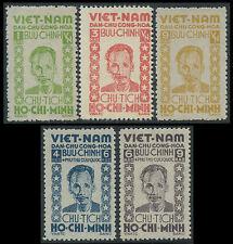 VIETNAM du NORD N°40/44** Président Ho Chi Minh ,1946, North Viet Nam MNH (NGAI)