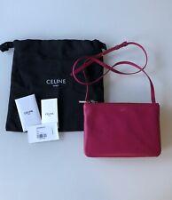 Celine Solo Small Trio Pouch Crossbody Bag Fuchsia Retail:$1,100