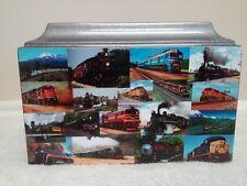874 Vintage Train Collage Adult Cremation Memorial Urn