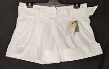 Women's Country Road Shorts Cuffed White Size 14 Postage
