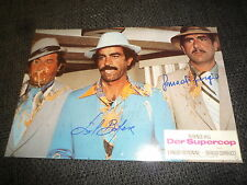 SAL BORGESE & SERGIO SMACCHI signed Autogramm DER SUPERCOP InPerson TERENCE HILL