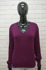 Ralph Lauren Donna XL Maglione Cardigan Maglia Pullover Cotone Caldo Sweater